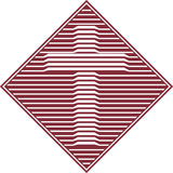 ikona fazowane krzyżowa Obrazy Stock