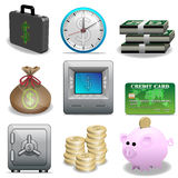 ikona finansowy set