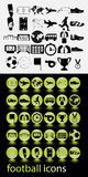 Ikona futbol Zdjęcie Royalty Free