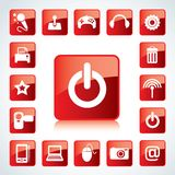 ikona glansowany set Zdjęcia Stock