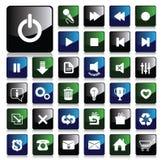 ikona glansowany set Obraz Stock