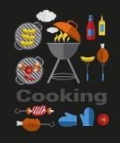 Ikona grilla grill ilustracji