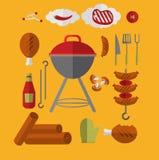 Ikona grilla grill ilustracja wektor
