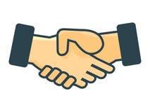 Ikona handshaking, graficzny projekt - Wektorowa ilustracja Zdjęcia Royalty Free