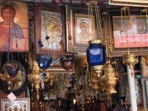 Ikona i Religijny Accoutrements sklep, Środkowy Ateny, Grecja Obrazy Royalty Free
