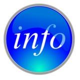 ikona info Obraz Stock
