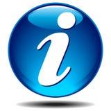 ikona info Obrazy Royalty Free
