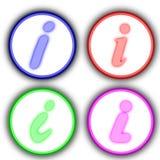 ikona info Fotografia Royalty Free