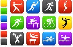ikona inkasowi sporty Zdjęcia Royalty Free