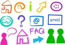 ikona internetu Obrazy Stock