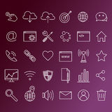 ikona internetu technologii komputerowych Zdjęcie Royalty Free