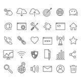 ikona internetu technologii komputerowych Obraz Royalty Free