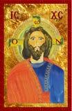 Ikona jezus chrystus, bytantine styl Cyfrowej ilustracja Obrazy Royalty Free