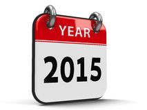 Ikona kalendarz 2015 rok isometry Obrazy Stock