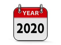 Ikona kalendarz 2020 rok royalty ilustracja