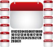 ikona kalendarzowy miesiąc Obraz Royalty Free