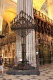 ikona Katedra święty Mary widzieć hiszpańszczyzny: Catedral De Santa marÃa de los angeles Sede, Andalusia, Hiszpania obraz stock