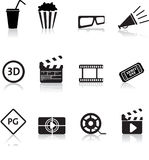 ikona kinowy plan zdjęciowy royalty ilustracja