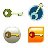 ikona klucz Obrazy Stock