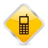 ikona komórki żółty royalty ilustracja