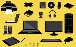 ikona komputerowy podpisany świat internetu Obrazy Royalty Free