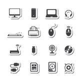 ikona komputerowy podpisany świat internetu Fotografia Royalty Free