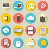 ikona komputerowy podpisany świat internetu Zdjęcia Royalty Free