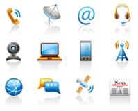 ikona komunikacyjny set Fotografia Stock