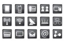 ikona komunikacyjny set Zdjęcia Stock