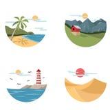 Ikona krajobraz Fotografia Stock