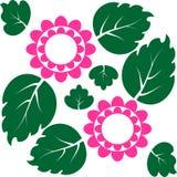 Ikona liść i kwiat. Wektorowy tło Obrazy Stock