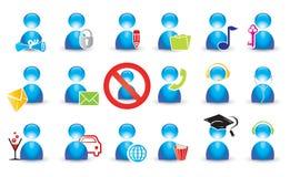 ikona ludzki set Fotografia Stock