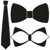 Ikona mężczyzna ojca tata plakatowego dnia krawata bowtie sylwetki modnisia klasyczny set Obrazy Royalty Free