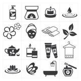 Ikona masaż i zdrój ilustracji