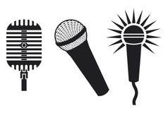 ikona mikrofony ilustracja wektor