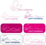 ikona motyli logo Fotografia Stock