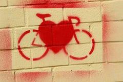 Ikona na korzyściach bicykl Zdjęcia Stock