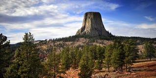 Ikona na wzgórzu, Devil& x27; s wierza, Wyoming zdjęcie stock