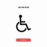 ikona niepełnosprawna Obrazy Stock