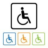 ikona niepełnosprawny znak Fotografia Stock