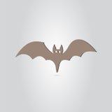 Ikona nietoperz Szczęśliwy Halloweenowy wakacje Zdjęcia Royalty Free