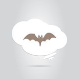 Ikona nietoperz Szczęśliwy Halloweenowy wakacje Fotografia Stock