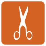 ikona nożyce ilustracja wektor