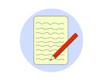 Ikona notatki podaniowe Zdjęcie Royalty Free