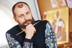Ikona obrazu iconographer portret Zdjęcie Royalty Free