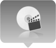 ikona odtwarzacz media Obrazy Stock