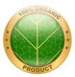 Ikona organicznie dla jedzenia lub napojów Obraz Royalty Free