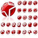 ikona oryginału ustalona sieć Obraz Stock