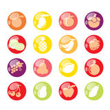 ikona owoców Zdjęcie Stock