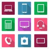 Ikona płaski projekt Urządzenia elektroniczne Zdjęcia Stock
